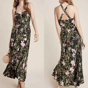 Anthropologie by Maeve Gabriela Ruffled Maxi Dress